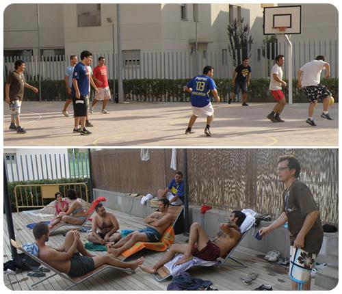 Subflash 2009, fútbol y piscina